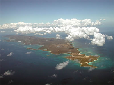 View of the Eastern end of Vieques, PR